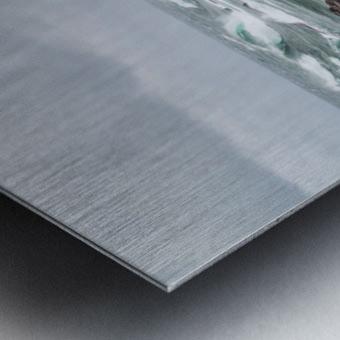 Crashing Waves ap 2605 Metal print