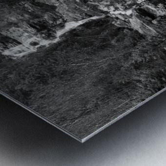 Silver Cascade Falls ap 2226 B&W Metal print