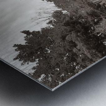 White River Light ap 2449 B&W Metal print
