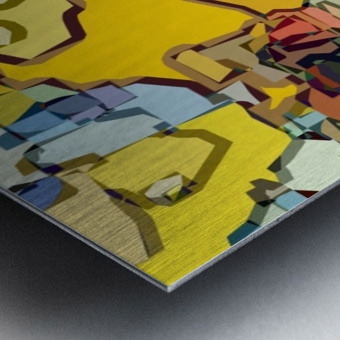 animal magnetism Metal print