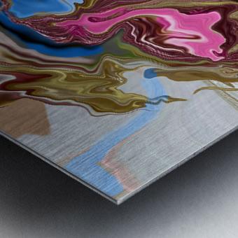 bluepour Metal print
