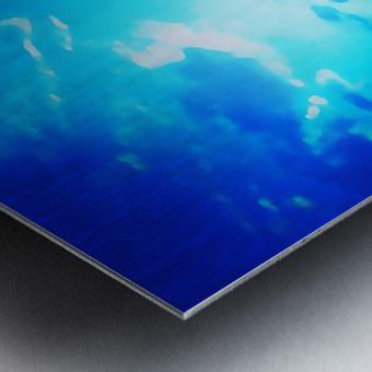blue yellow magic Metal print