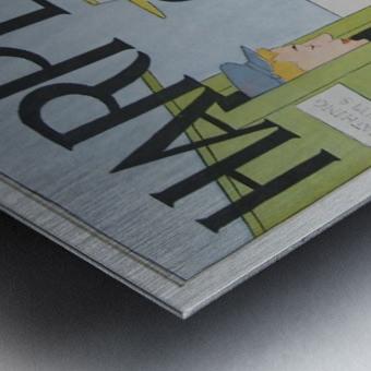 Harper's August Bathing Metal print