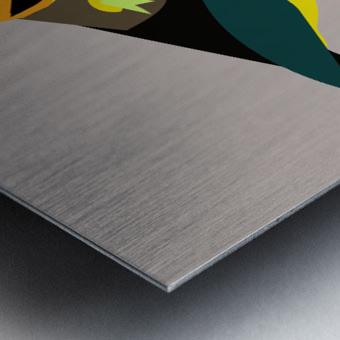 Black Eared Tanager Metal print