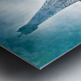 Modern-Art EIFFEL TOWER Metal print