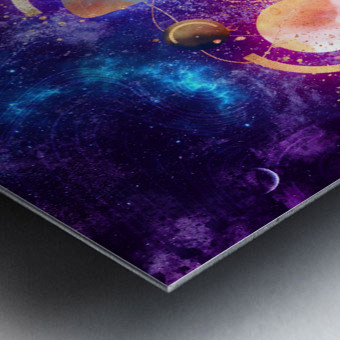 Dream Art XVIII - Cosmic World Metal print