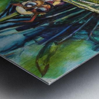 Louisiana Dragonfly Metal print