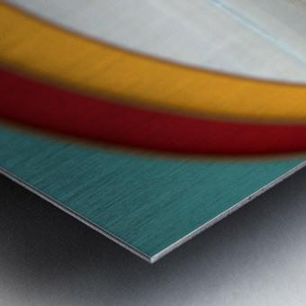 Absorbed-in-Ocean Metal print