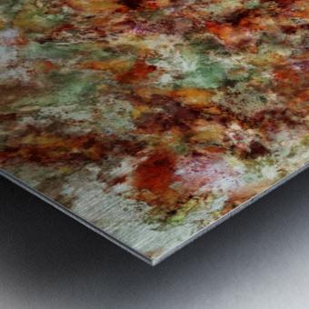 Submerged leaves Metal print
