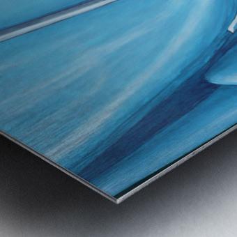 Blue 32  Metal print