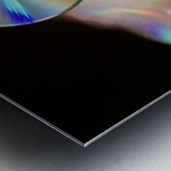 CD Rainbows Metal print