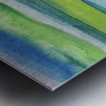 Ocean And Sea Beach Coastal Art Organic Watercolor Abstract Lines II Metal print