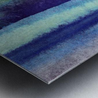 Ocean And Sea Beach Coastal Art Organic Watercolor Abstract Lines V Metal print