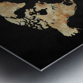 Artistic World Map XIII Metal print
