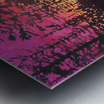 Crows at Sunset Metal print