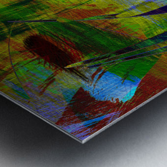 ABSTRACT-1007 SPATIAL Metal print