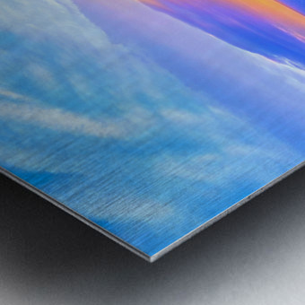 Rainbow Sunset in the Tropics   Hawaii Metal print