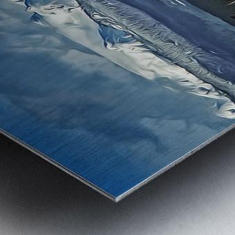 Comox Glacier Overlooking Comox Harbor Metal print
