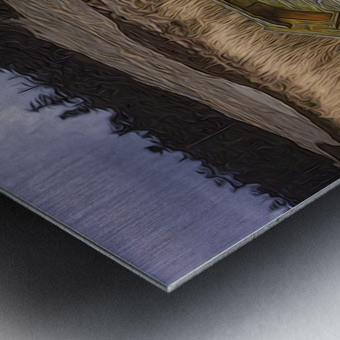 Clinker-built Rowboat Metal print