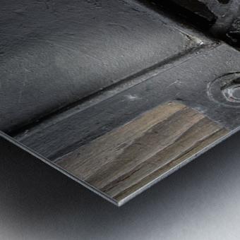 Une roue figee dans le temps Metal print