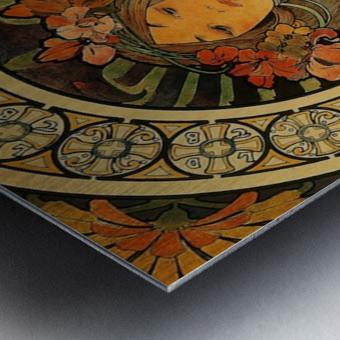 La Trappistine by Alphonse Mucha Metal print