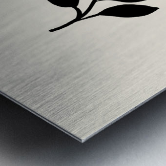 Black Twigs Metal print