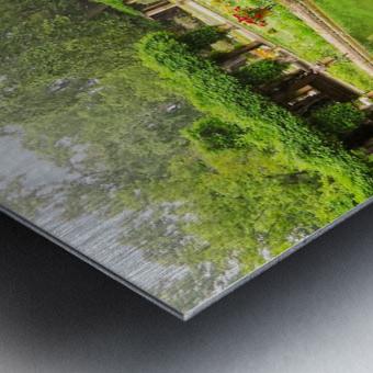 Lotos Pond - Estanque de Los Lotos - Parque de Maria Luisa - Seville Spain Metal print