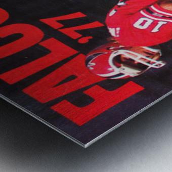 1977 Atlanta Falcons Retro Football Poster Metal print