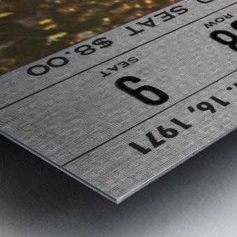 1971 Notre Dame vs. North Carolina Football Ticket Canvas Metal print
