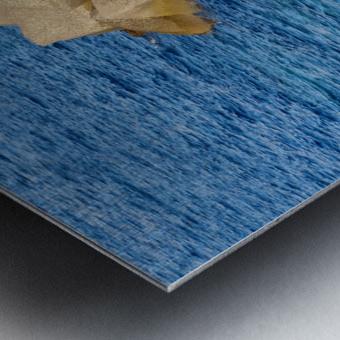 Cubes on the sea Metal print