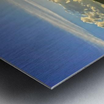 Sunset over Saint Thomas in the Caribbean Islands Metal print