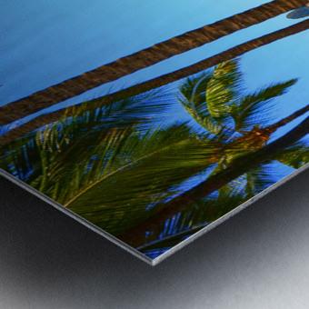 Waikiki Snapshot in Time 2 of 4 Metal print