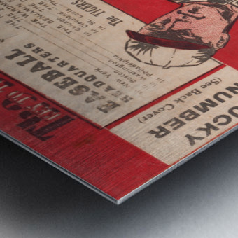1933 Detroit Tigers Score Card Art Metal print