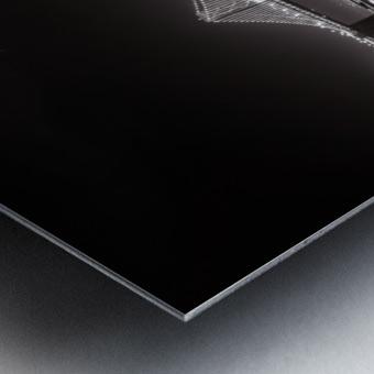 Bay Bridge Black & White Metal print
