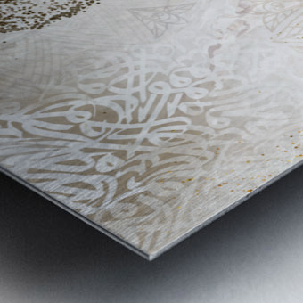 calligraphy horse  Metal print