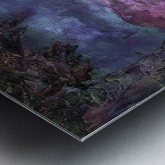 Landscape Mist Metal print