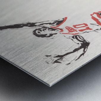 1976 Spirits of St. Louis Basketball Team Art Metal print