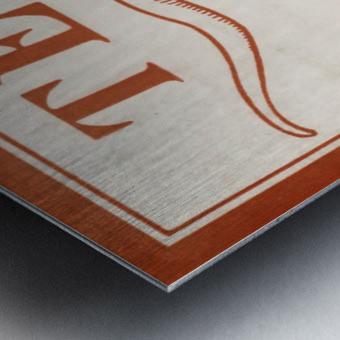 Historic Texas Longhorns Art Metal print