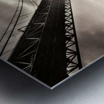Urban Loneliness - The Bridge Metal print