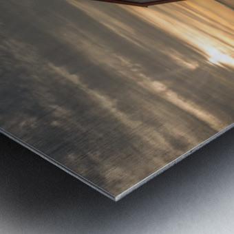 Hangar et chaloupe de la maison Xavier-Blanchette Metal print