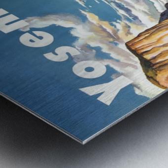 Yosemite United Air Lines travel poster Metal print