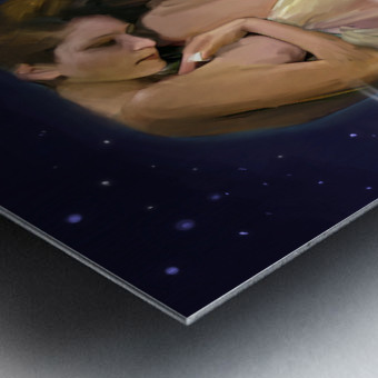 Drapery and Stars Metal print