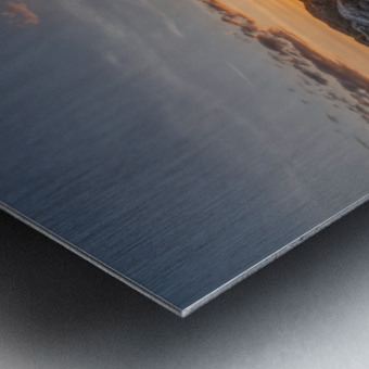 Rocks sun and water Metal print