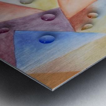 Rainbow Water Drops Metal print