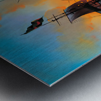 Marauders of the Sea Metal print