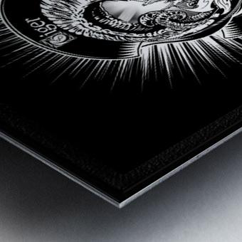 White Tiger King Tiger Art Emblem BlkBgnd by Xzendor7 Metal print