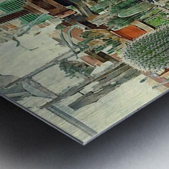 Old Wine Press Used in Succulent Display Metal print
