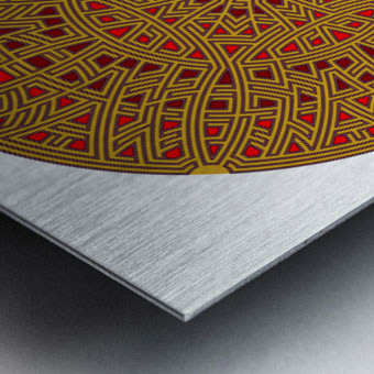 Mandalabyrinth 3502 Metal print