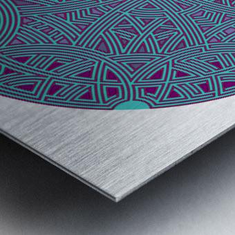 Mandalabyrinth 3503 Metal print