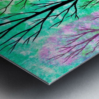 Spring Forest Metal print